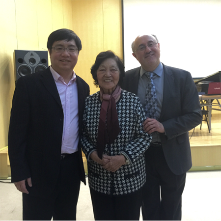 With Professors Yuan Sheng and the Doyen of Chinese pianism, Professor Guangren Zhou, after my Scriabin lecture